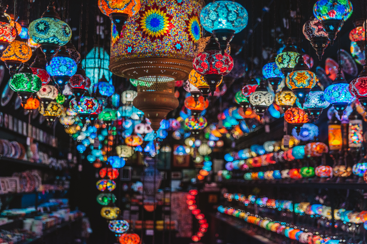 Turkish lamps at Camden Market