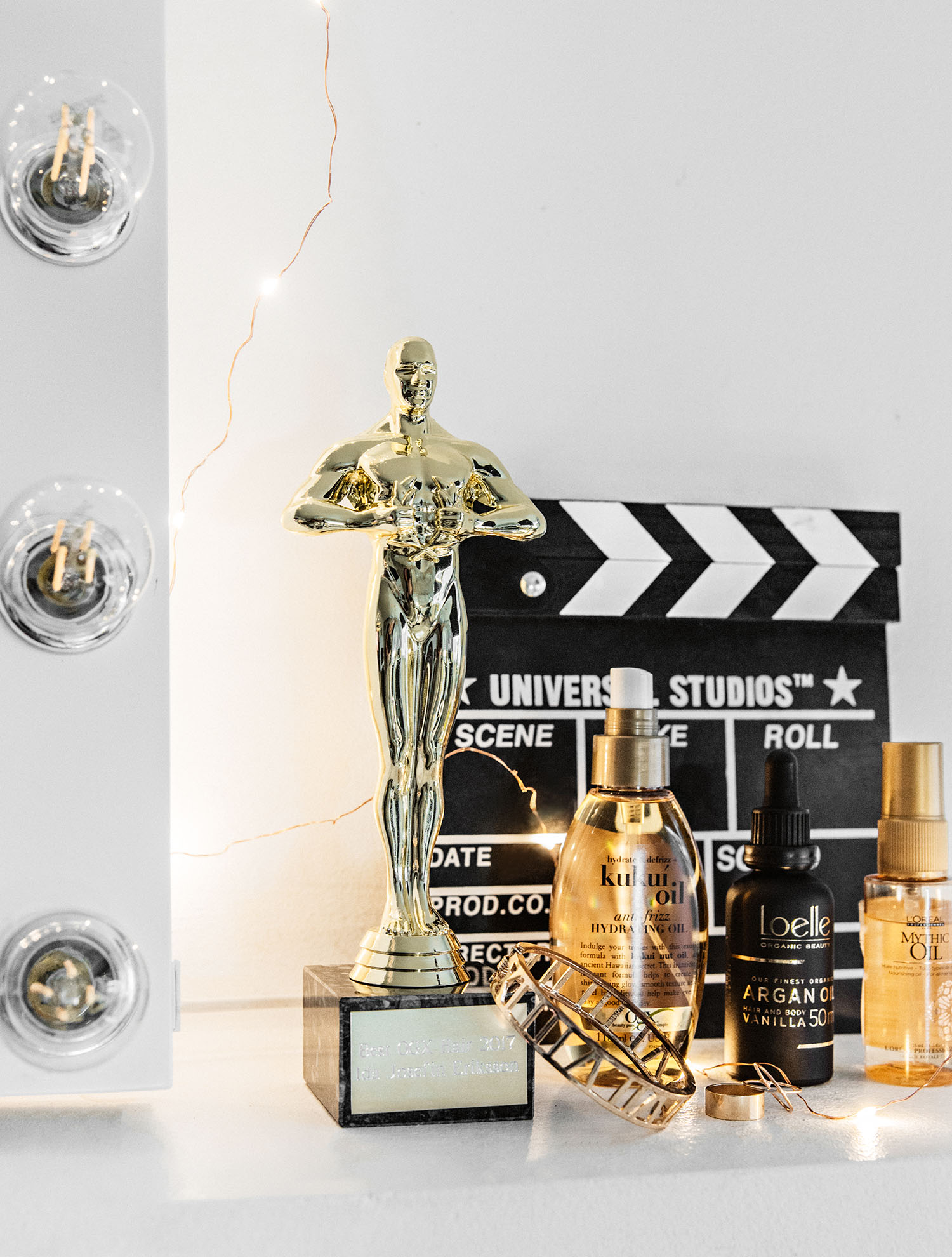 Hair Oils and an Oscar Statuette - Hollywood Hair