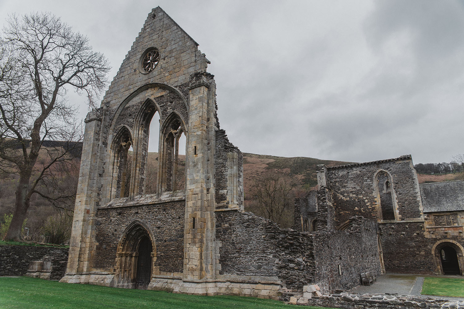 Valle Crucis Abbey in Wales