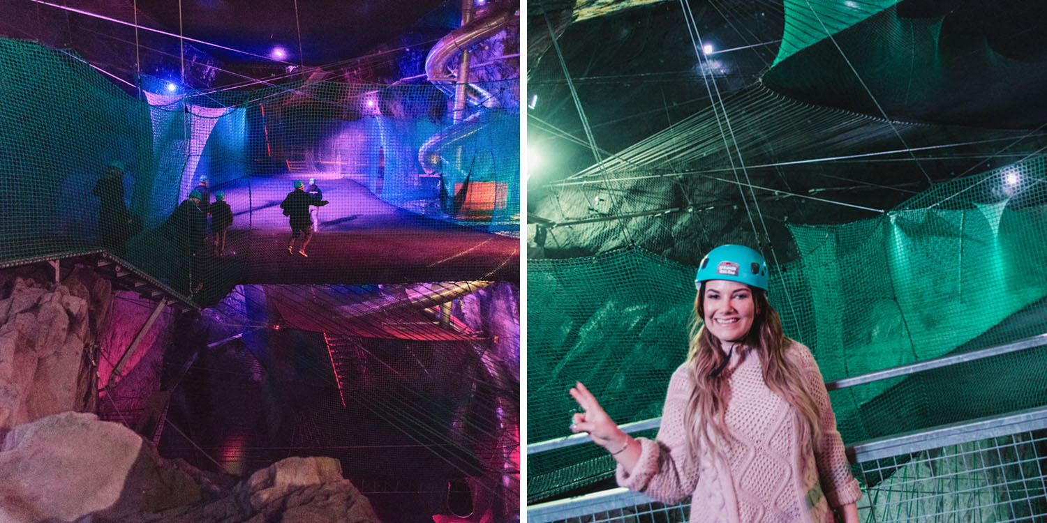 Bounce Below - Underground Trampolines in North Wales