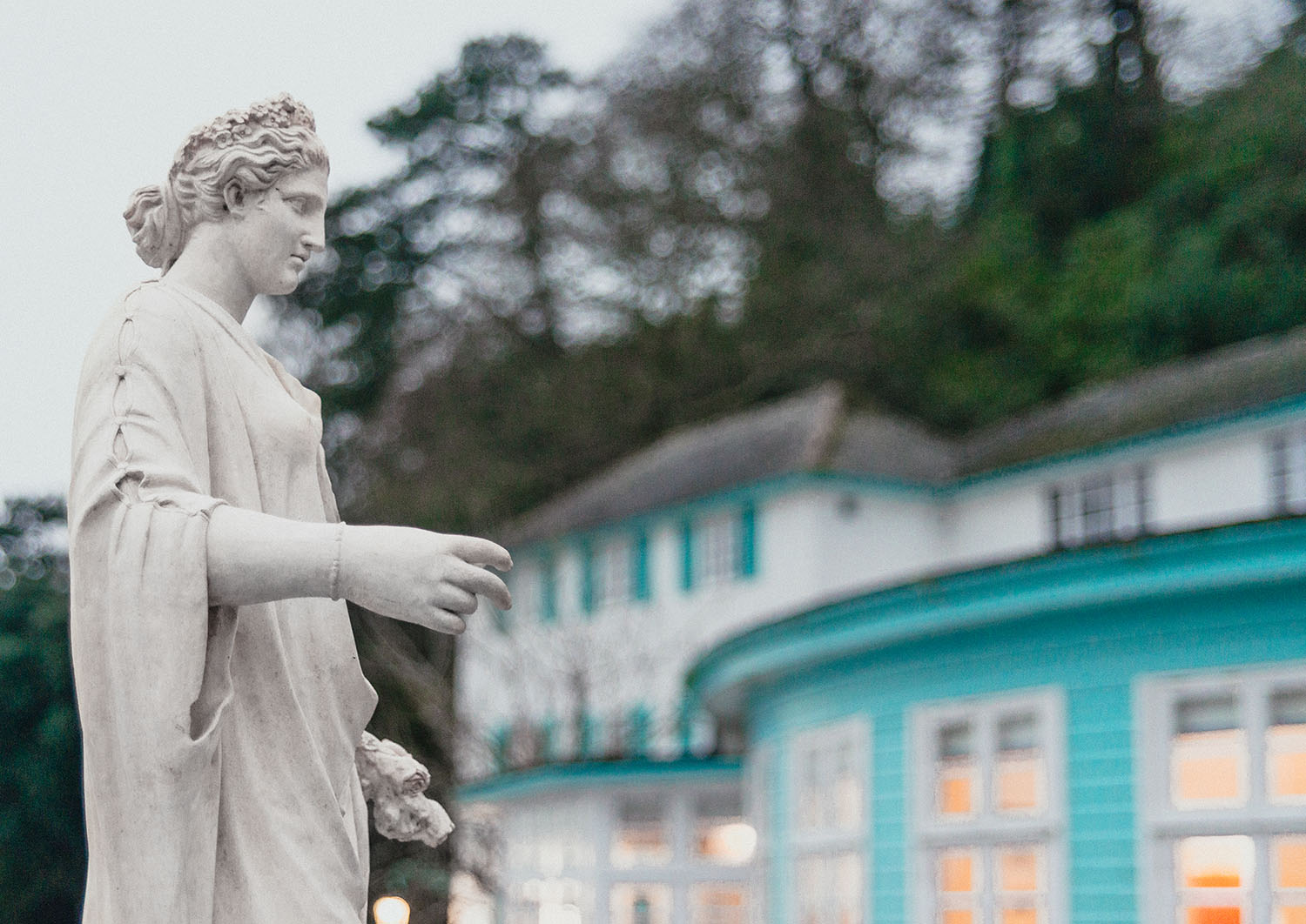 Woman Statue in Portmeirion