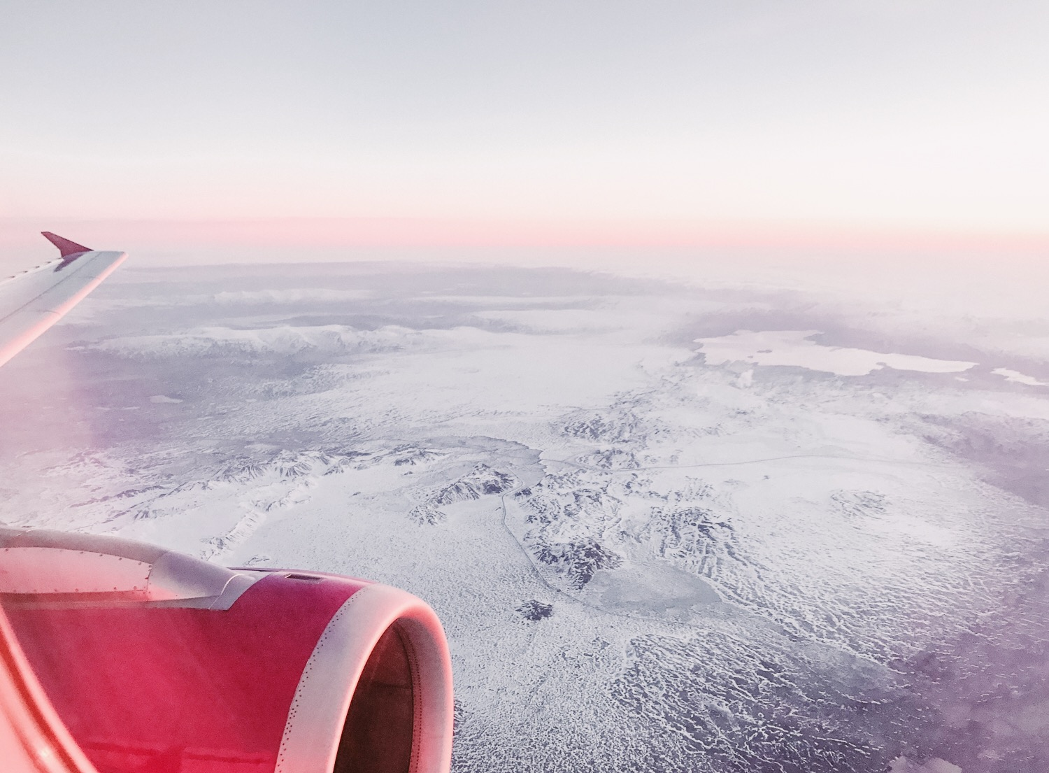 Wow Air Flyg till Island - Iceland from above