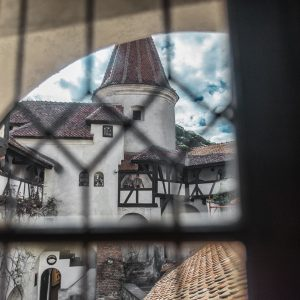 View from inside Dracula's Castle (Bran Castle)