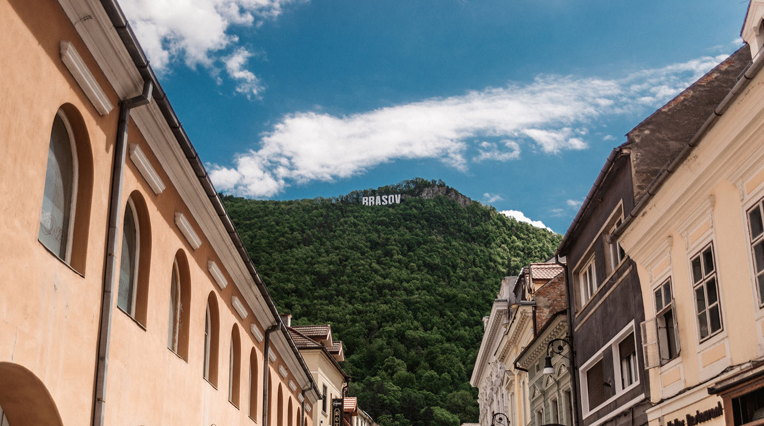 Braşov's Hollywood Sign in Transylvania