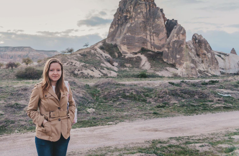 Sanna in Cappadocia, Turkey before balloon flight