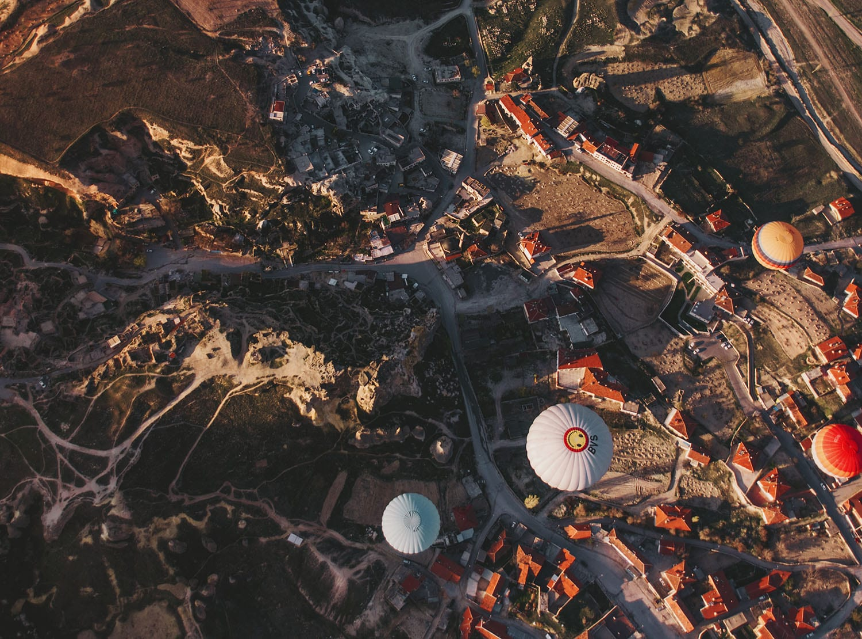 Balloons soaring over Cappadocia, Turkey