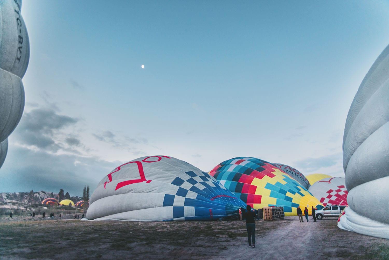 Hot air ballooning in Cappadocia, Turkey