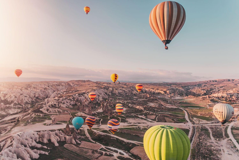 Magical sunrise & hot air ballooning in Cappadocia, Turkey