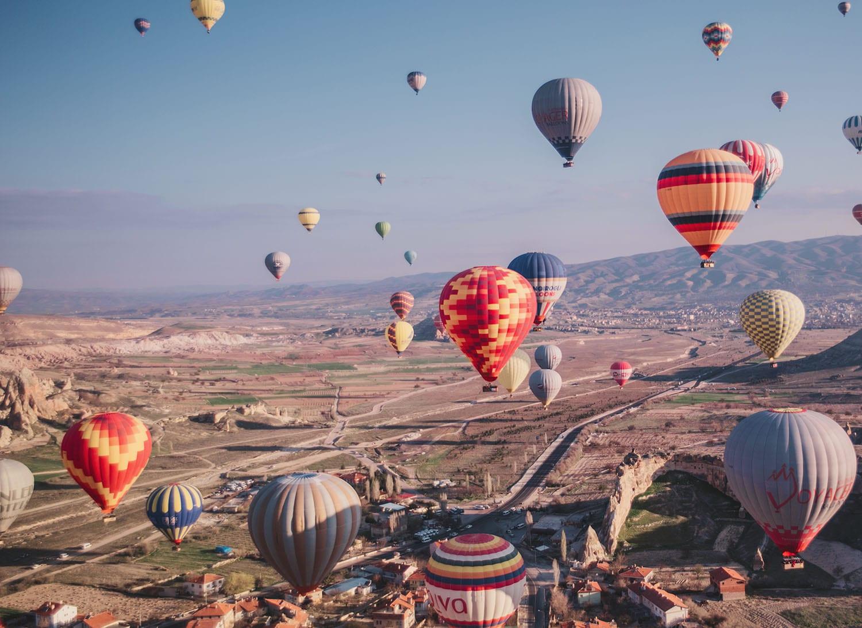 Magical hot air ballooning in Cappadocia, Turkey