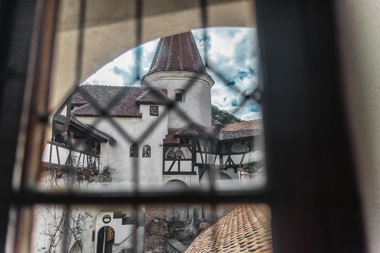 View from inside Dracula's Castle (Bran Castle)