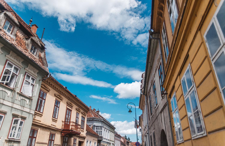 Buildings in Brasov, Romania