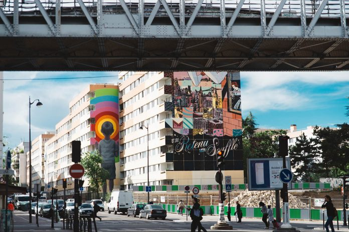 Colorful Street Art in Paris - 13th arrondissement