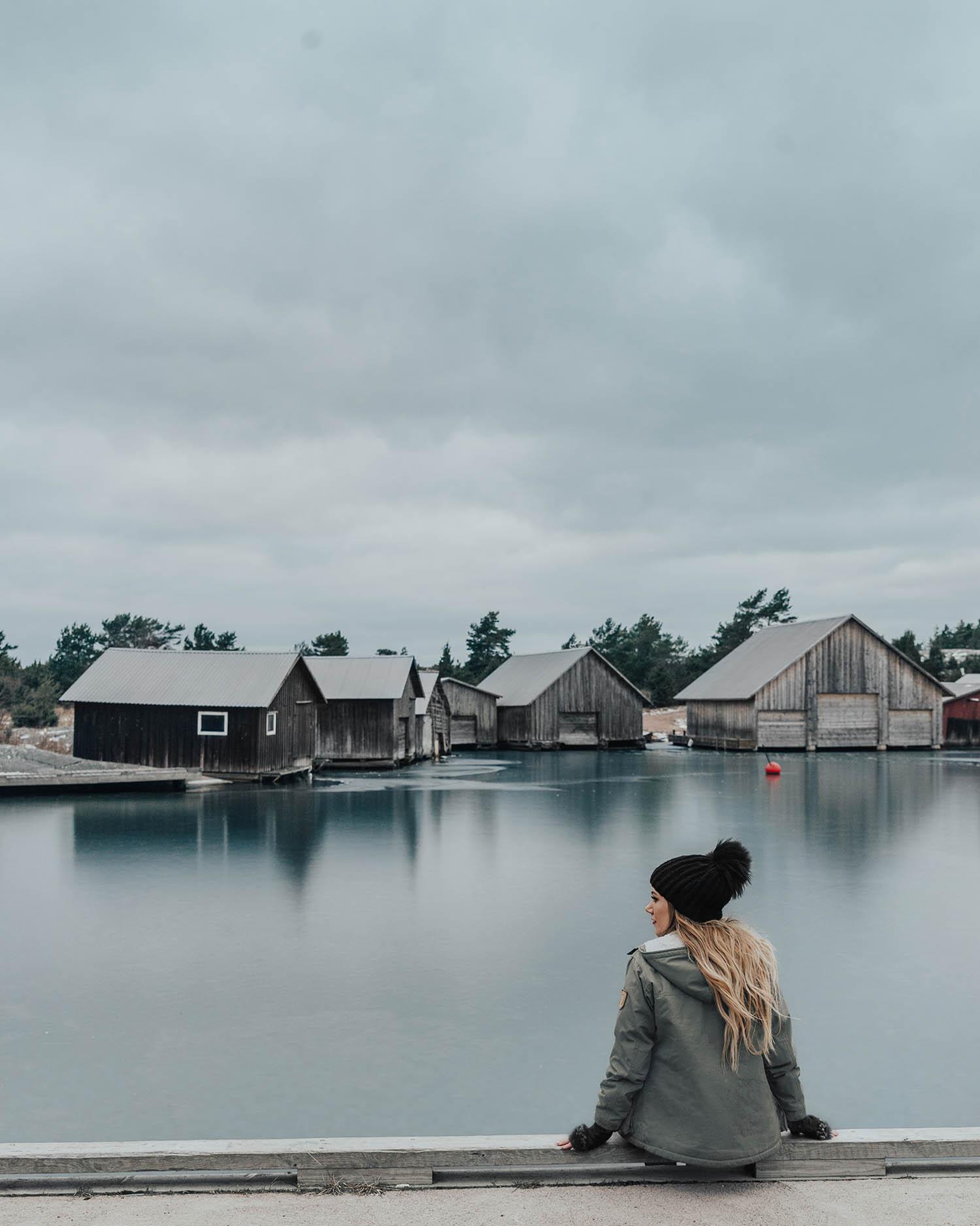 Adaras i Käringsund, Åland, Vinter