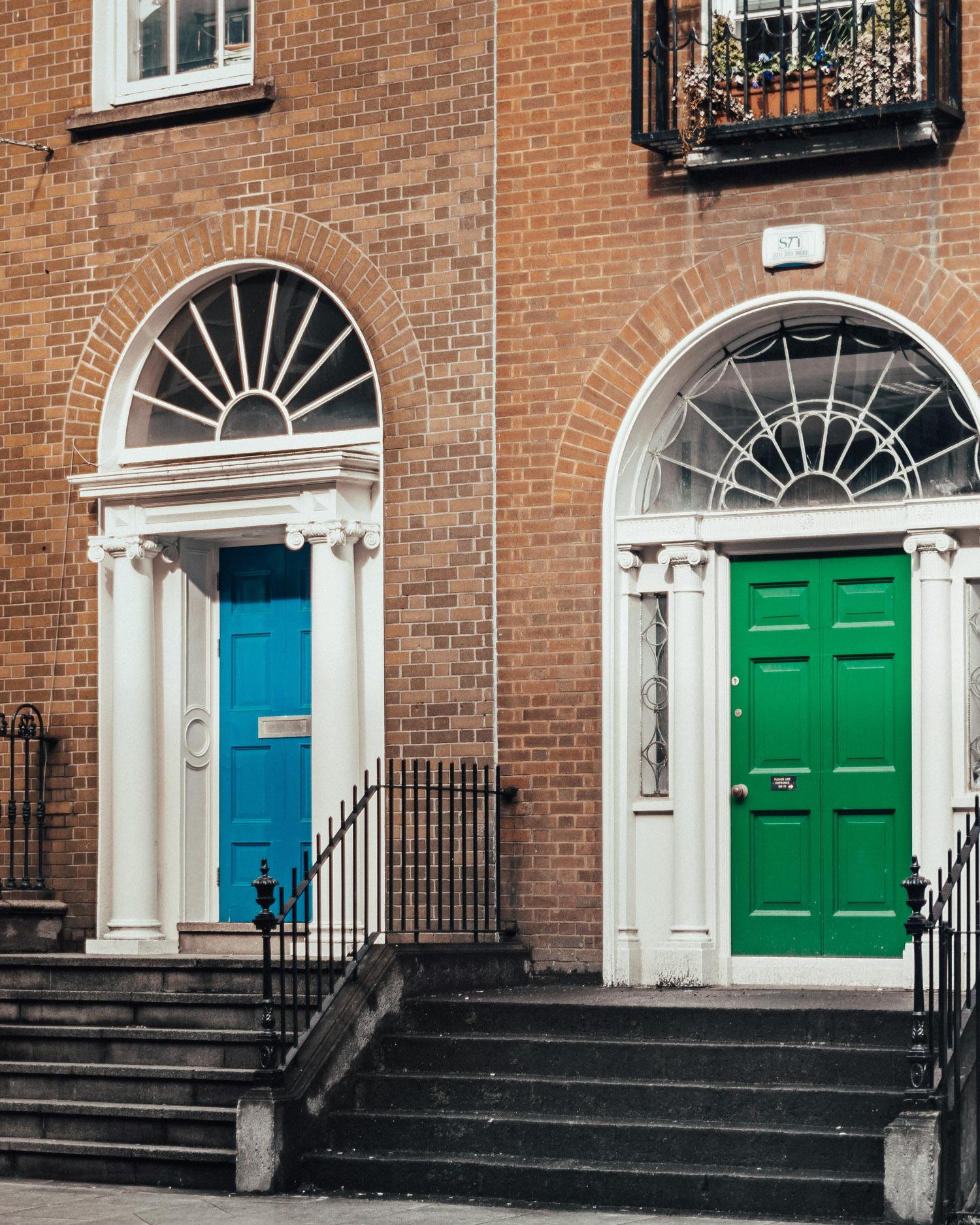 Colorful Doors in Dublin's Georgian Quarter