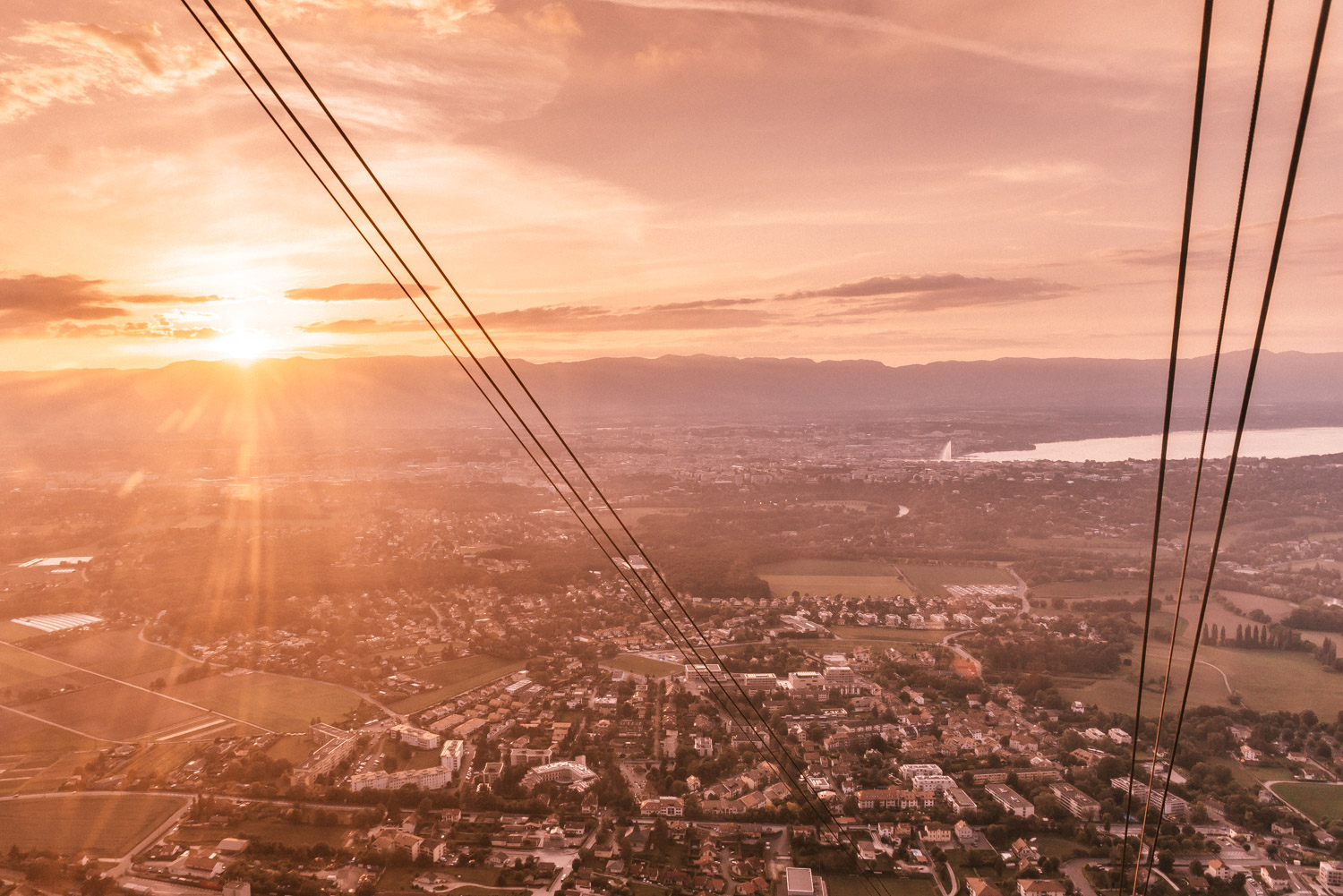 The Mont-Salève Cable Car Sunset