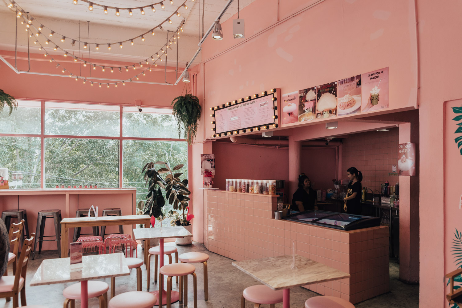 The Cute Pink Planter Cafe | Where to Eat in Bangkok, Thailand