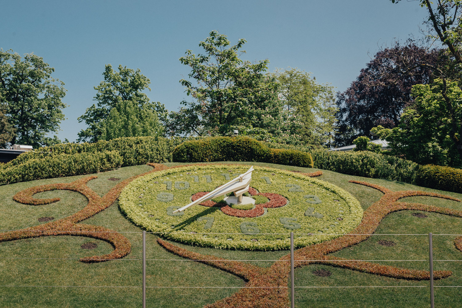 The Flower Clock in Geneva