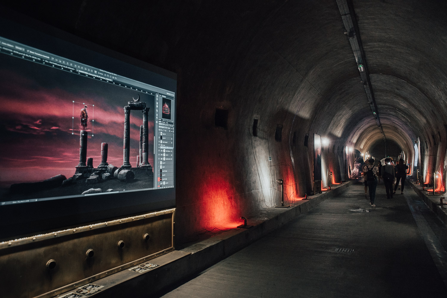 Photoshop Art Installation in Grič Tunnel