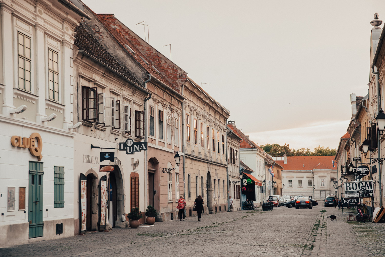 Street in Osijek, Slavonia, Croatia
