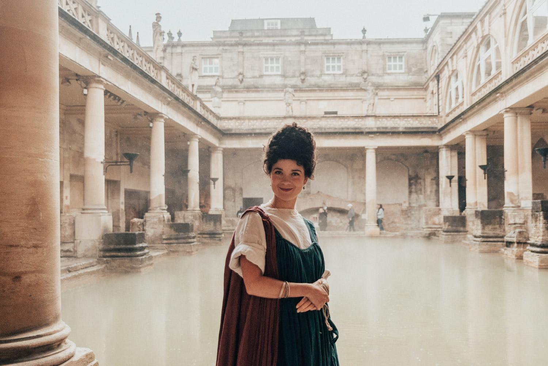Romersk kvinna på The Roman Baths