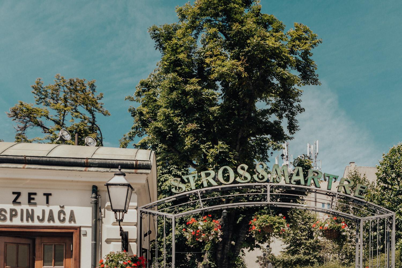 Det romantiska promenadstråket Strossmayer i Zagreb