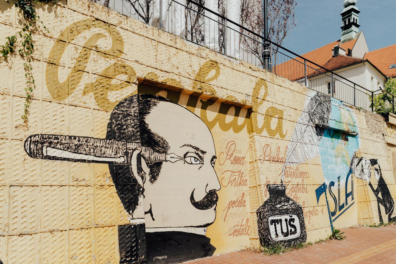 Tesla, Street art in Zagreb