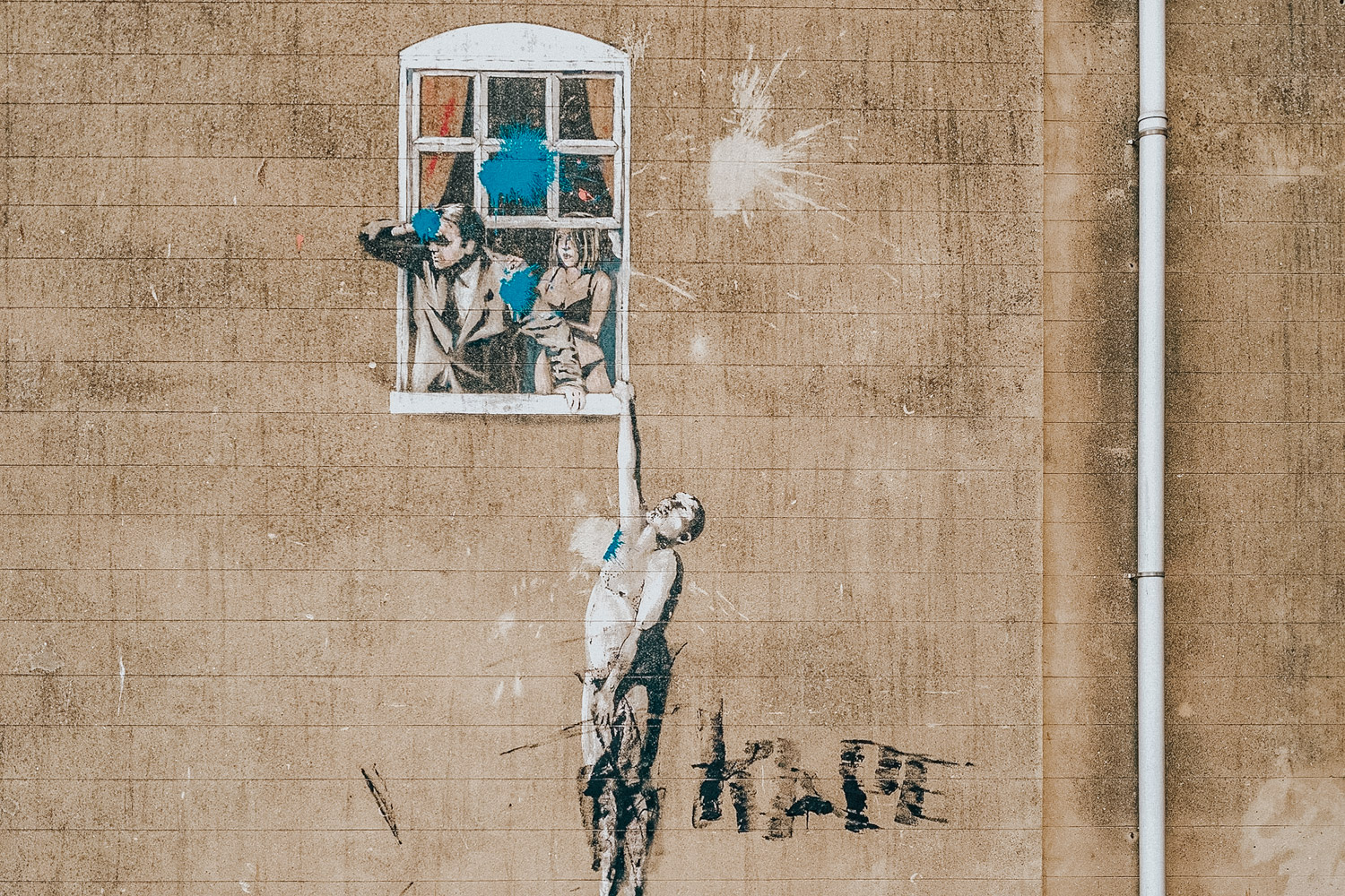 Banksy's Well Hung Lover | Street Art Tour in Bristol