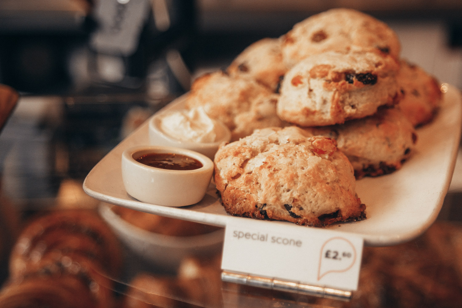 Scones at Pinkmans Bakery, Bristol