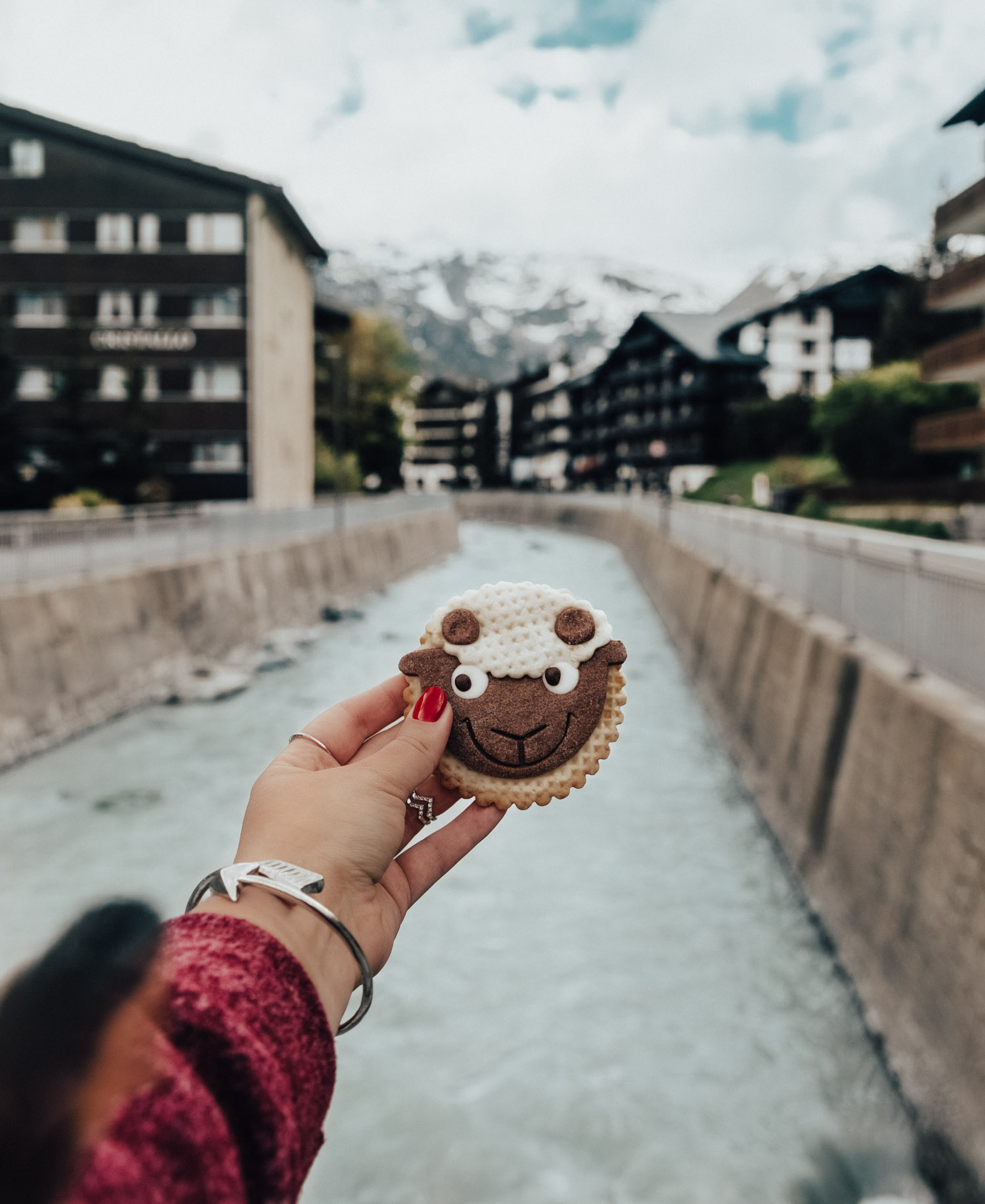 Have a Sheep Cookie in Zermatt