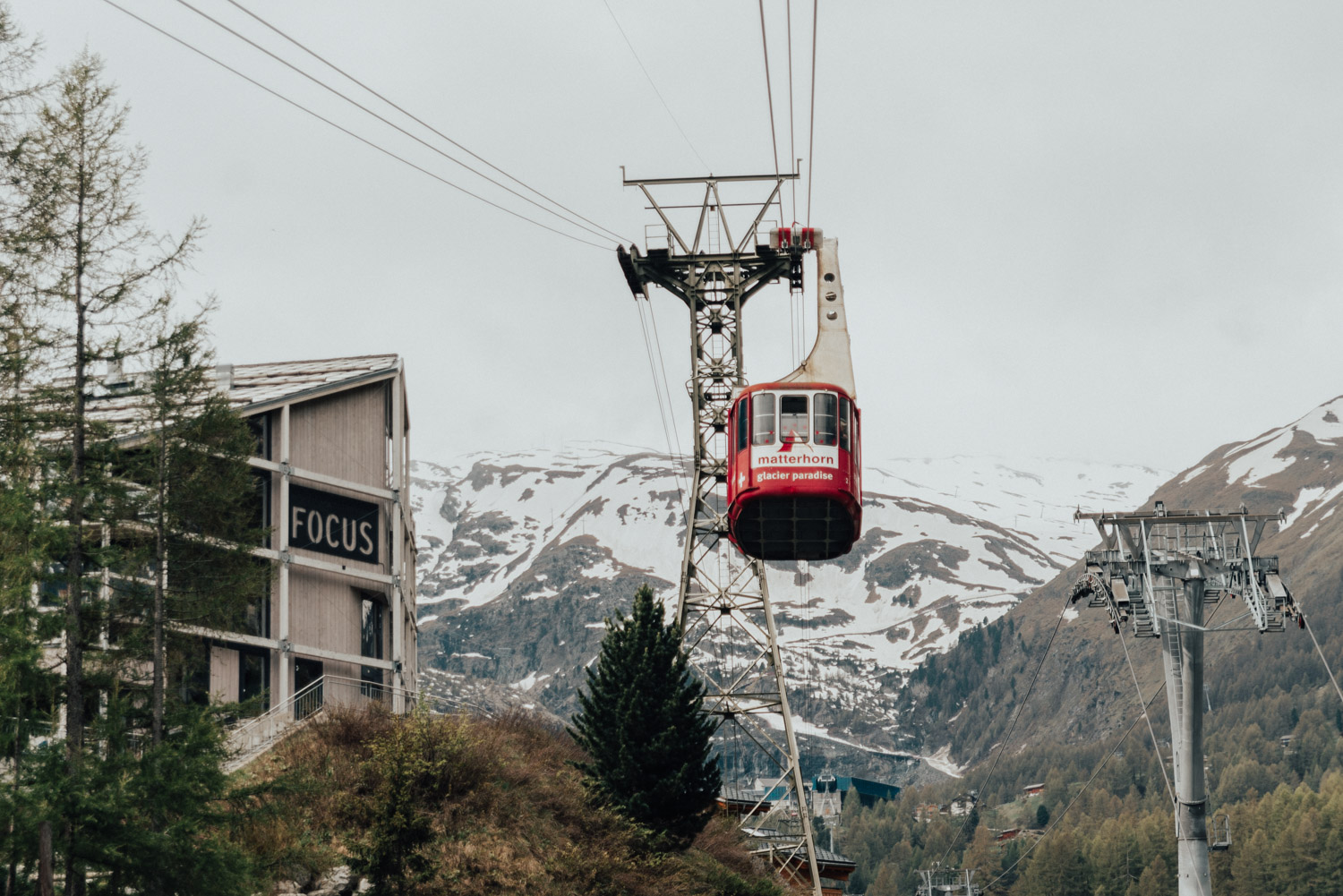 Cable car to Zermatt Glacier Palace