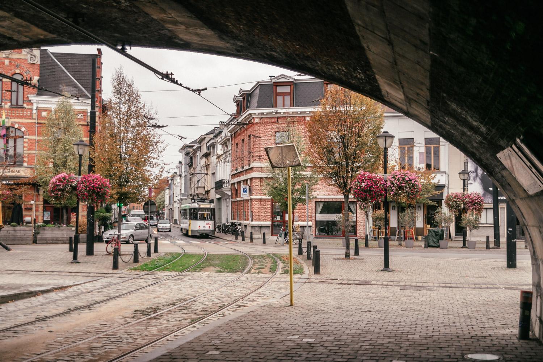 Tram in Antwerp, Belgium
