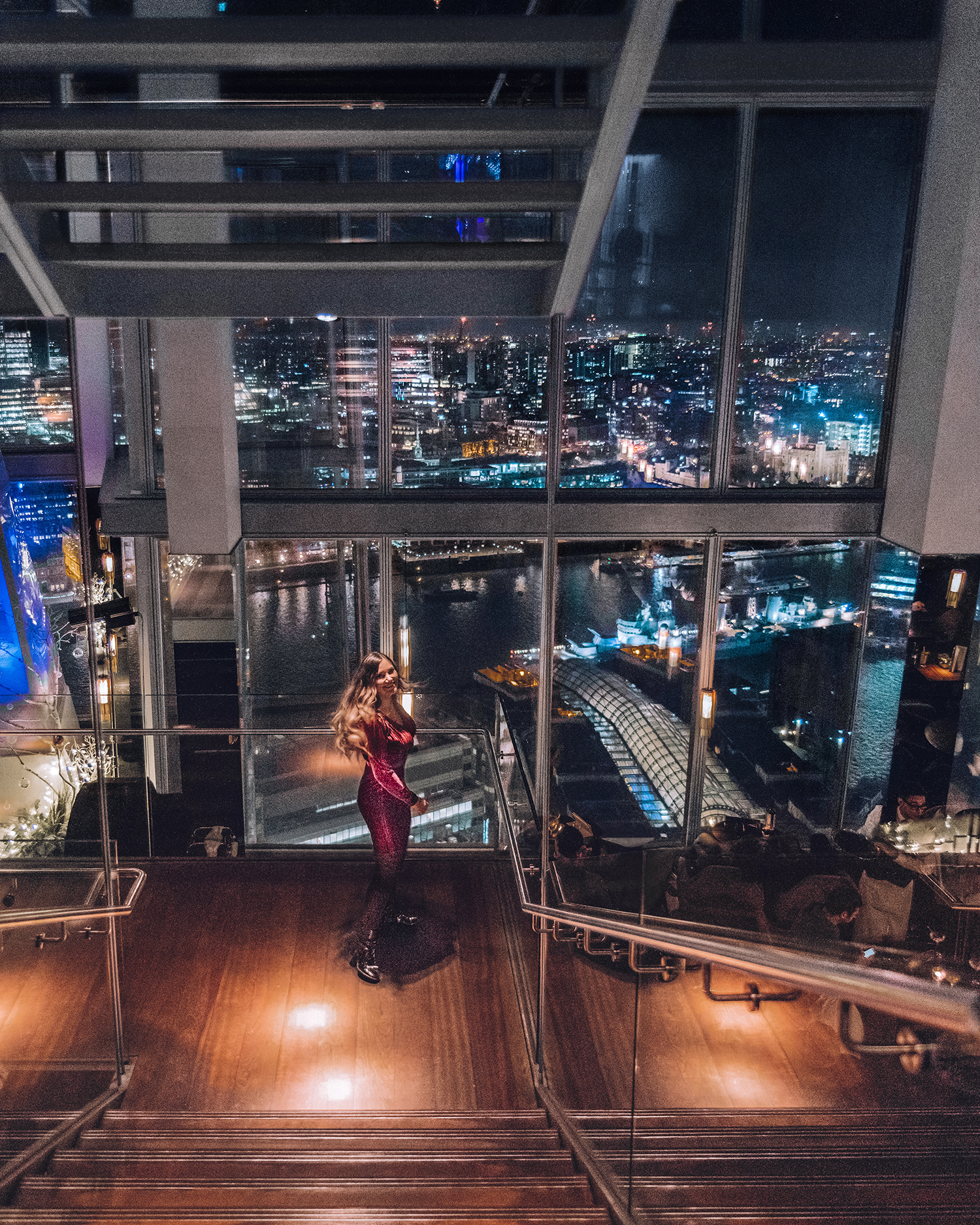 Dinner at Aqua Shard | A Mary Poppins Returns Guide to London