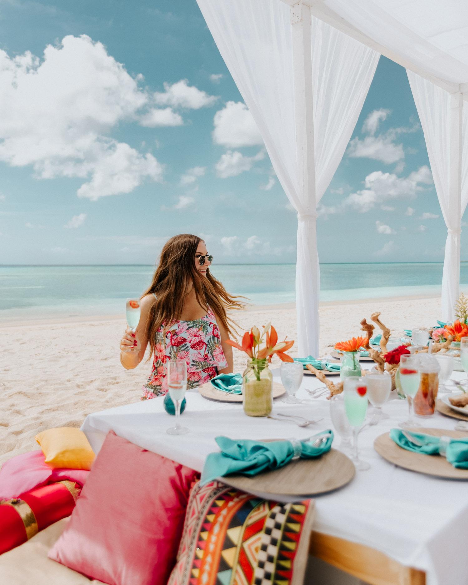 Lunch på stranden, Aruba, Västindien