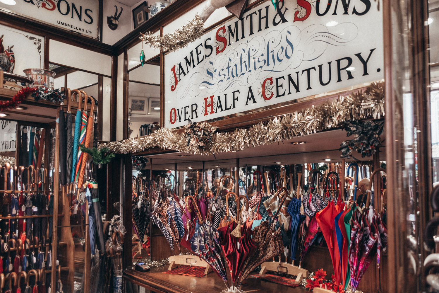 James Smith & Sons Umbrella Shop in London, Great Britain