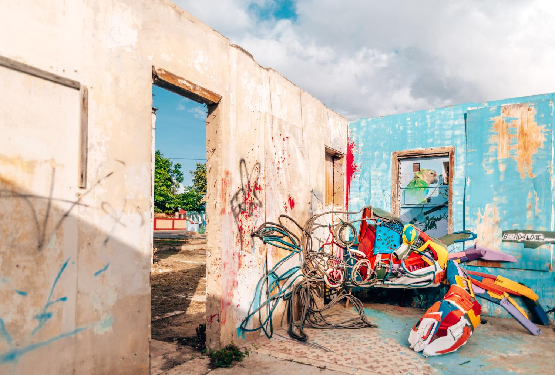 Gatukonst i San Nicolas, Aruba