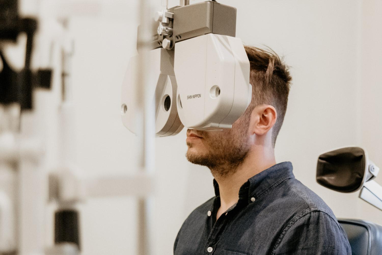 Pre-op eye test