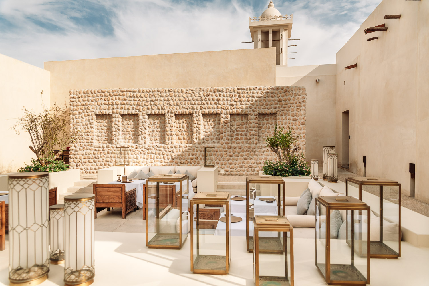 The Arabic Restaurant's outdoor dining area at Al Bait Sharjah