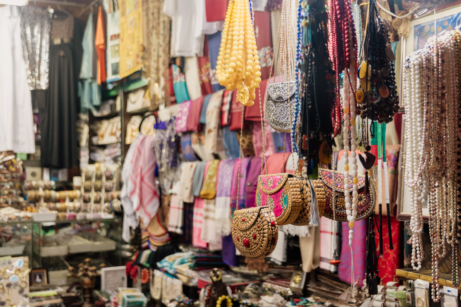 Local souvenirs and fashion finds at Souq Al Arsah
