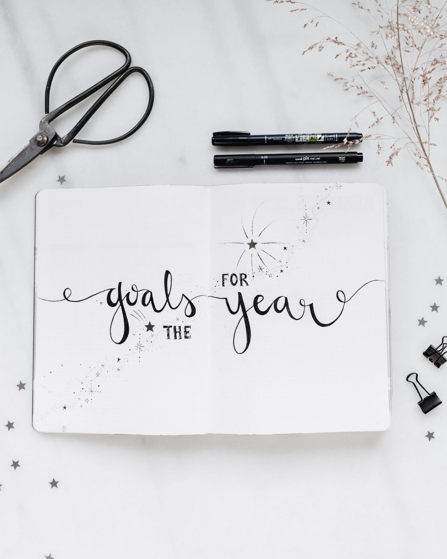 Bullet Journal - Goals for the Year