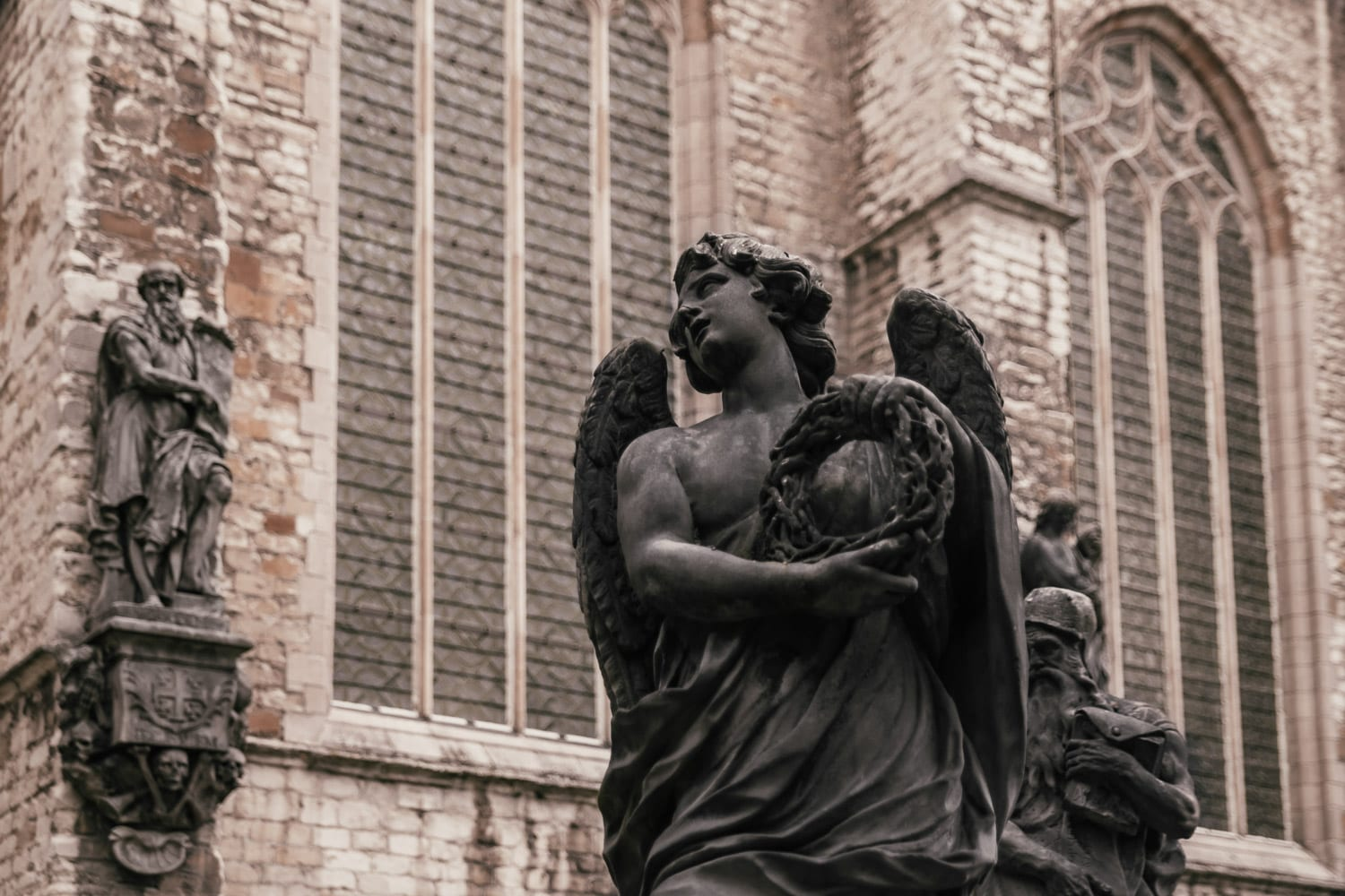 The Calvary - Angel Statues in St. Paul's Churchyard, Antwerp, Belgium