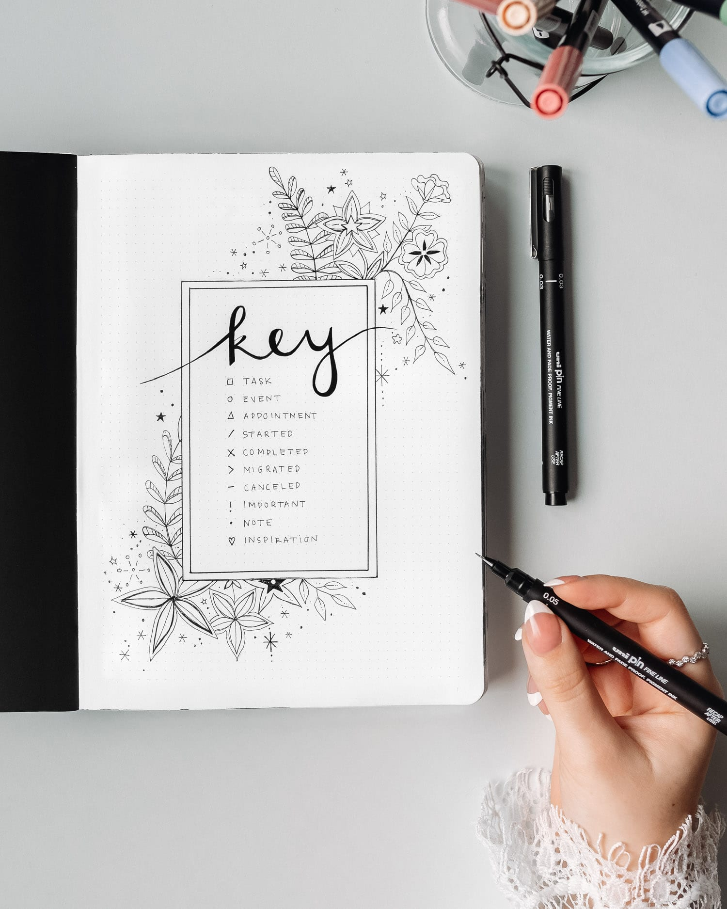 Bullet Journal Custom Key Idea