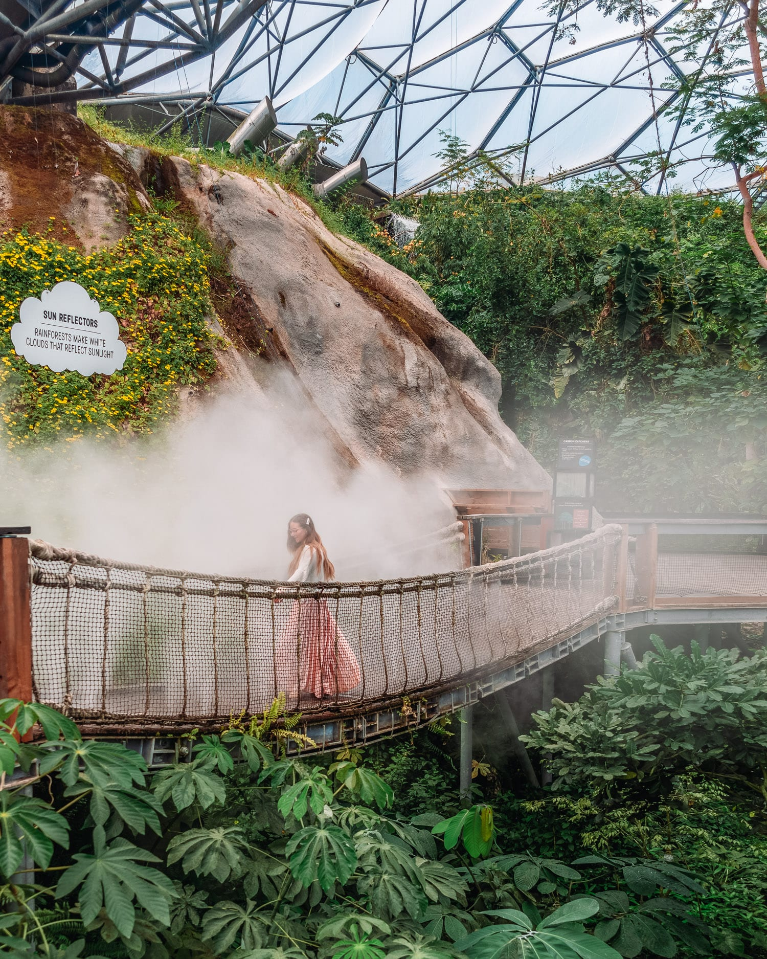 The Rainforest Biome, Eden Project | Most Instagrammable Places in Cornwall, UK