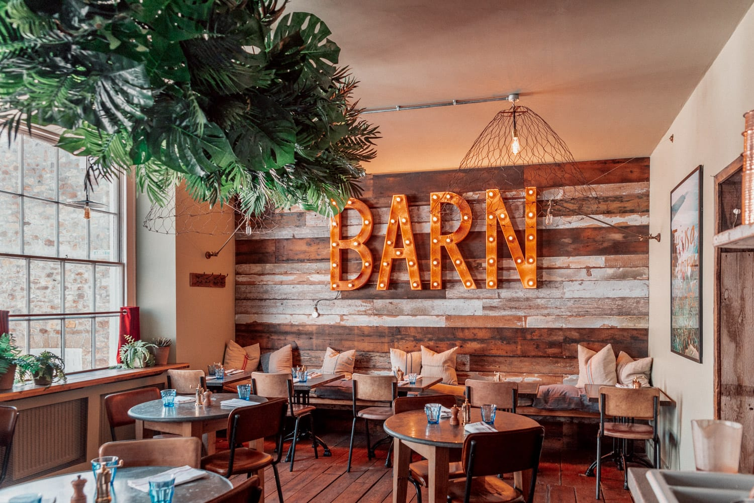 The Cornish Barn - Instagrammable Restaurant and Bar in Penzance, Cornwall, UK