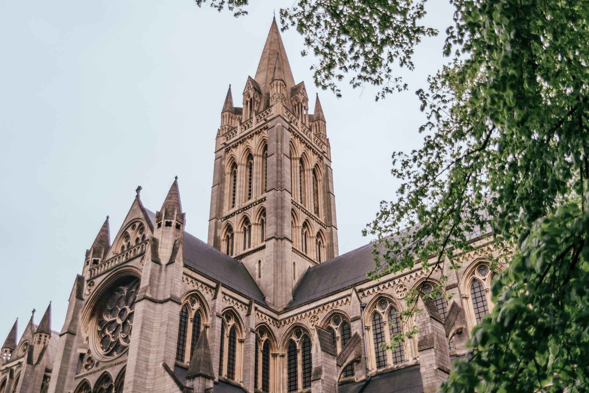 Truro Cathedral in Cornwall, England, UK