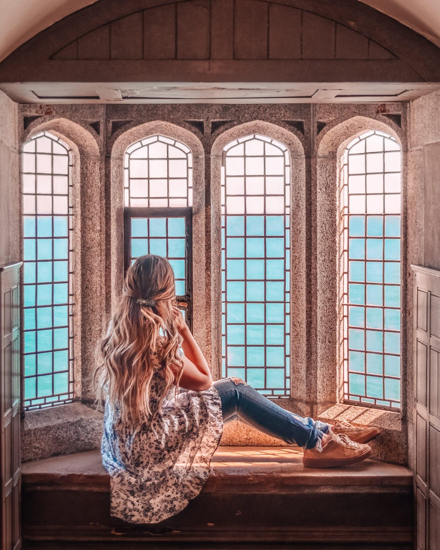 Castle window - St. Michael's Mount, Cornwall, UK