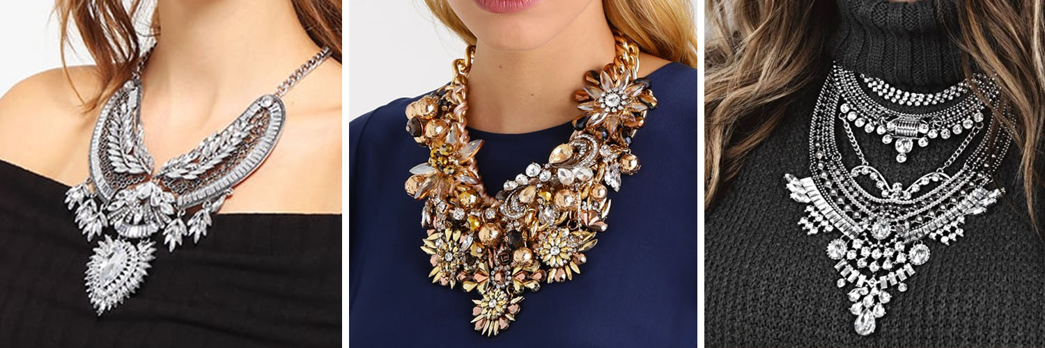 Over the top & glamorous statement necklaces