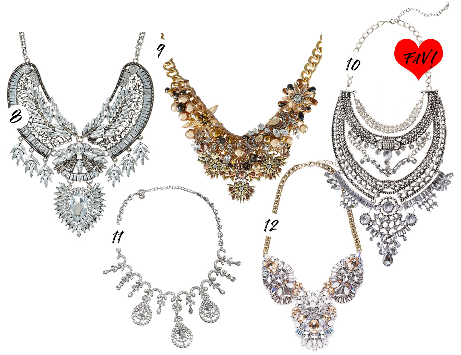 Over the top & glamorous statement necklaces / Statement-halsband