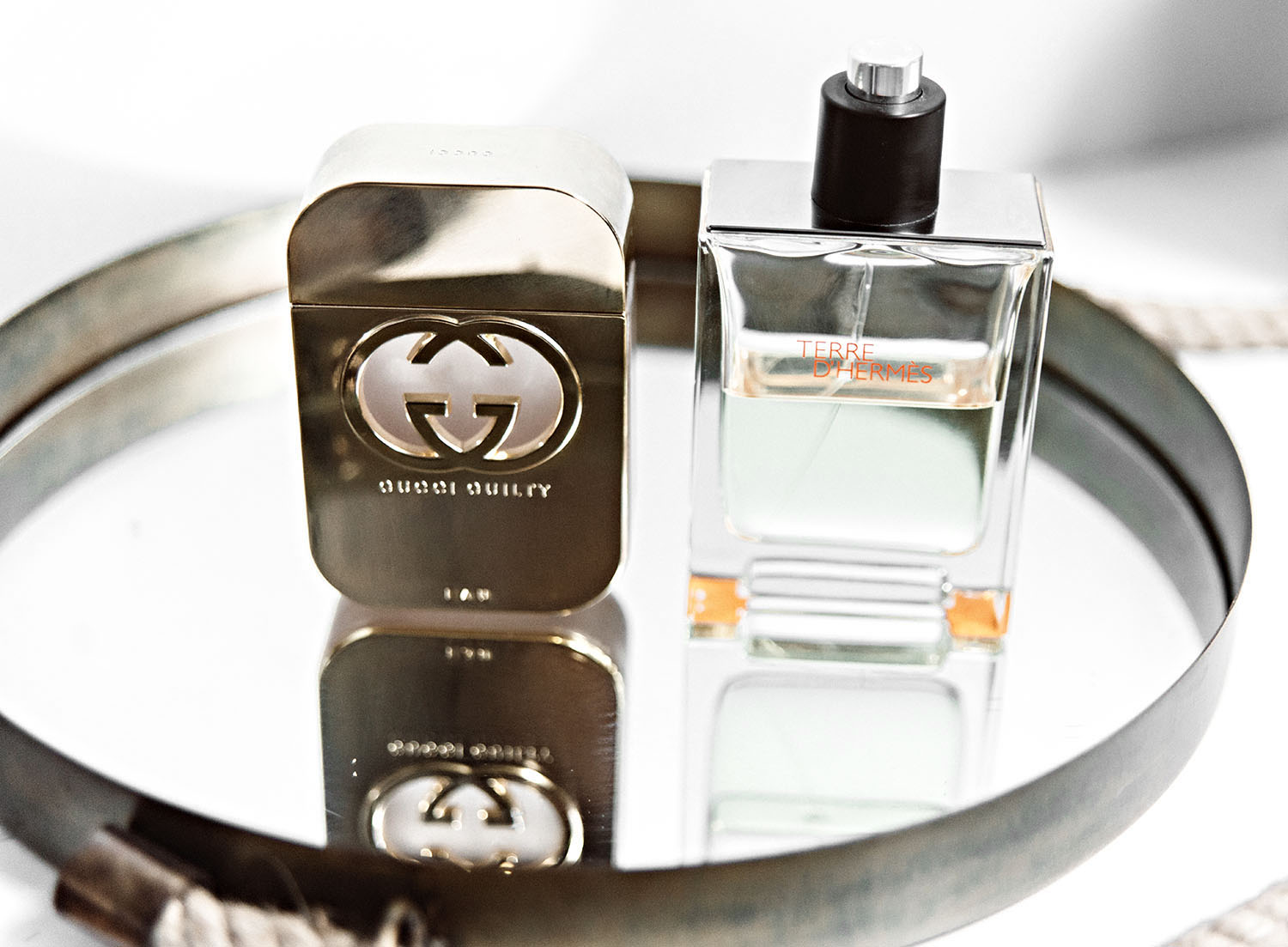 Perfumes for men: Gucci Guilty for him & Hermes Terre d'Hermes