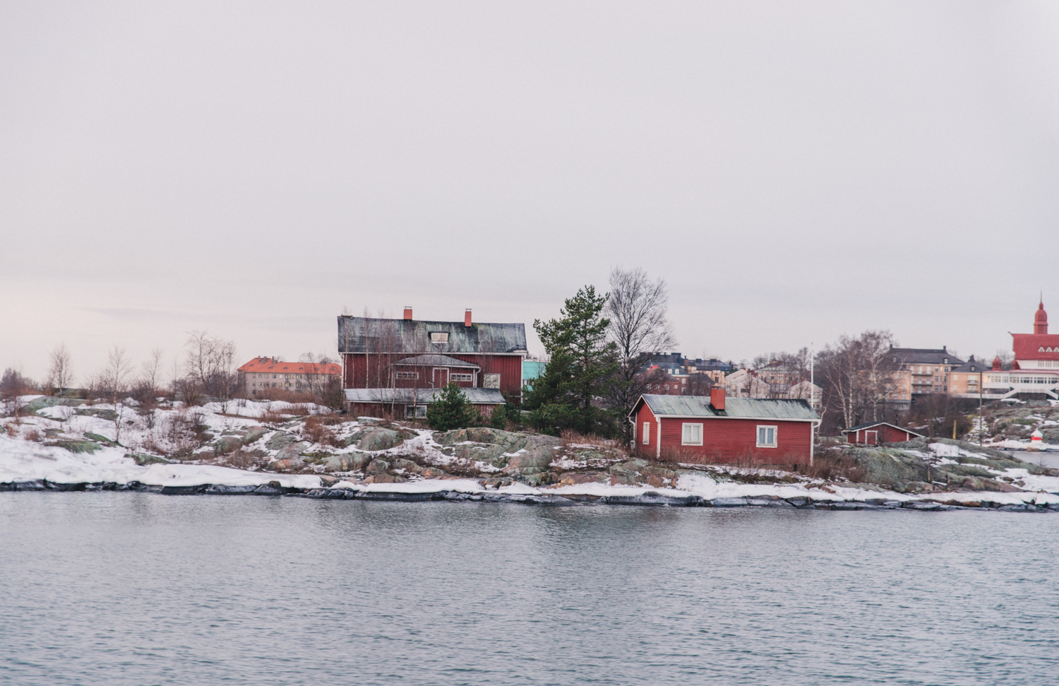 View from Ferry ride to Suomenlinna Sea Fortress