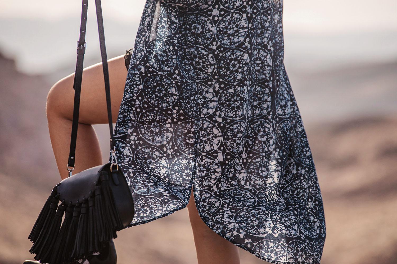 Rizzo Fringe Bag + Indiska IDA Klänning